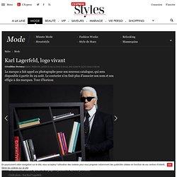 Karl Lagerfeld, logo vivant