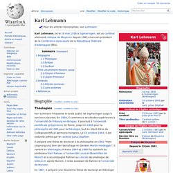 Karl Lehmann — Wikipédia