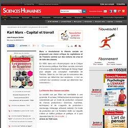 Karl Marx - Capital et travail