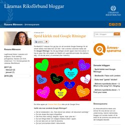 Sprid kärlek med Google Ritningar - Rosana Månsson