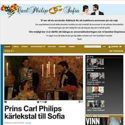 Prins Carl Philips kärlekstal till Sofia