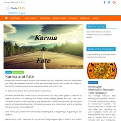 Moral Story Karma and Fate – Vedic RAYS