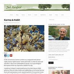 Karma & Habit - Jack Kornfield