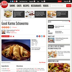Good Karma Schawarma Recipe : Guy Fieri