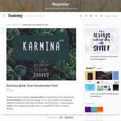 Karmina Bold: Free Handwritten font