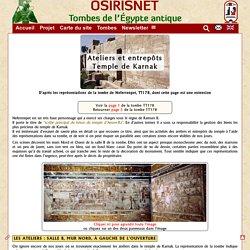 Karnak-ateliers et entrepôts du temple