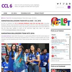 Karnataka Bulldozers Team Kits & Logo - CCL 2016