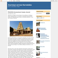 Journeys across Karnataka: Chandrala Parameshwari temple, Sannati