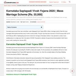 Karnataka Saptapadi Vivah Yojana 2020