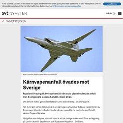 Kärnvapenanfall övades mot Sverige