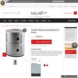 Kartell - Modular (empilable) 2/3 tiroirs - Milia Shop