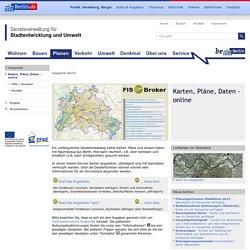 Karten, Pläne, Daten - online