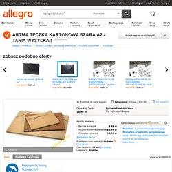 ARTMA TECZKA KARTONOWA SZARA A2 - TANIA WYSYŁKA ! (4228860616) - Allegro.pl - Więcej niż aukcje.