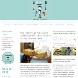 Mini-Käsekuchen Pythagoras für Studenten – einfach selber backen mit einer Tasse