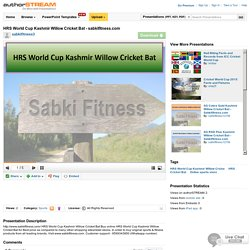 HRS World Cup Kashmir Willow Cricket Bat - Sabkifitness.Com