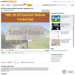HRS 20-20 Kashmir Willow Cricket Bat - Sabkifitness.Com