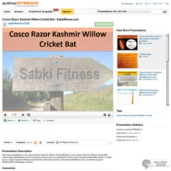 Cosco Razor Kashmir Willow Cricket Bat - Sabkifitness.Com