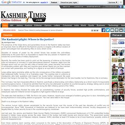 The Kashmiri plight: Where is the justice?