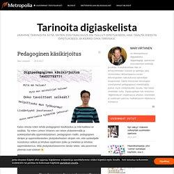Pedagoginen käsikirjoitus - Tarinoita digiaskelista