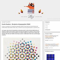 Chez Leaf.: Evelin Kasikov - Broderie et typographie CMJN