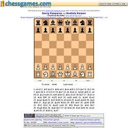 Flohr system: Kasparov vs Karpov 1986