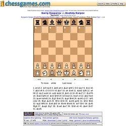 Kasparov vs Karpov 1990