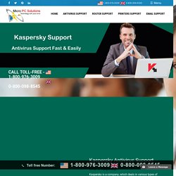 Kaspersky Antivirus Support - Customer Live/Online Service Number 1-800-976-3009