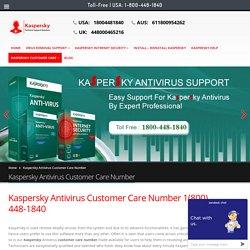 Kaspersky Antivirus Customer Care Number 1(800) 448-1840