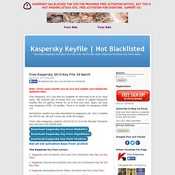 Kaspersky Keyfile