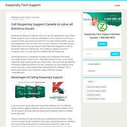Call Kaspersky Support Canada to solve all Antivirus-Issues
