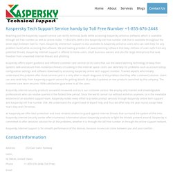 Kaspersky Toll-Free Number +1-855-676-2448