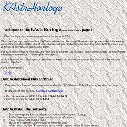 KAstrhorloge for Linux and KDE