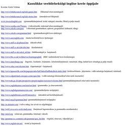 Kasulikke veebilehekülgi inglise keele õppijale