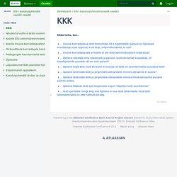 KKK - EIS-i kasutusjuhendid (avalik vaade) - HITSA