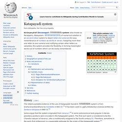 Katapayadi system