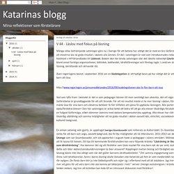 Katarinas blogg: V 44 - Läslov med fokus på läsning