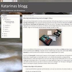 Katarinas blogg: Muntlig bokredovisning med omslaget i fokus