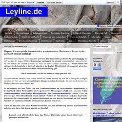 Leyline.de: Bayern: Katastrophale Konzentration von Aluminium, Barium und Arsen in der Atemluft amtlich bestätigt!