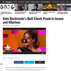 Kate Beckinsale Pulled an Epic Prank