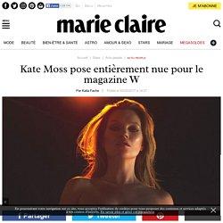 Kate Moss pose entièrement nue pour le magazine W