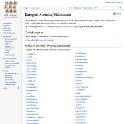 Kategori:Svenska/Skämtsamt - Wiktionary