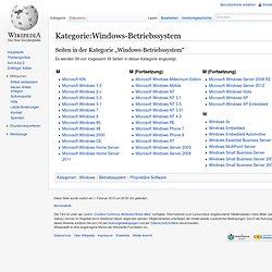 Kategorie: Windows-Betriebssystem