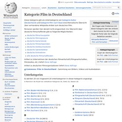 Kategorie:Film in Deutschland