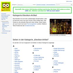 Kategorie:Klexikon-Artikel – Klexikon - Das Freie Kinderlexikon