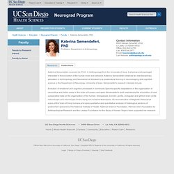 Katerina Semendeferi - Faculty Neurograd Program - UC San Diego Health Sciences