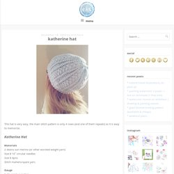 katherine hat - ekatearcher