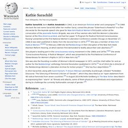 Kathie Sarachild