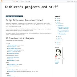 Design Patterns of Crowdsourced Art