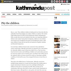 Kathmandu Post- Pity the children