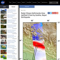 Radar Shows Kathmandu Area Uplifted 5 Feet by Gorkha, Nepal Earthquake